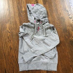 Lululemon grey hooded sweatshirt jacket